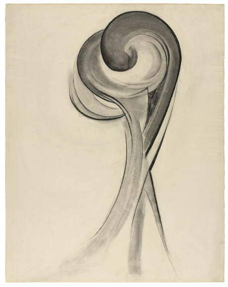 Georgia O'Keeffe. Nº 12 (Special). 1916. Carboncillo sobre papel. Early charcoal painting by Georgia O'Keeffe