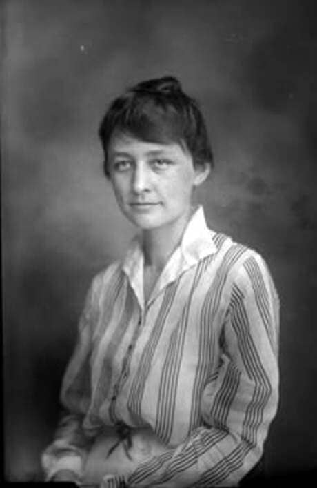 Georgia O'Keeffe as a teaching assistant at the University of Virginia in 1915.